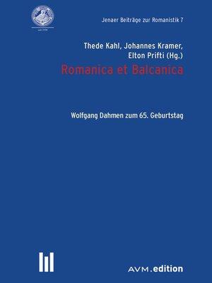 cover image of Romanica et Balcanica