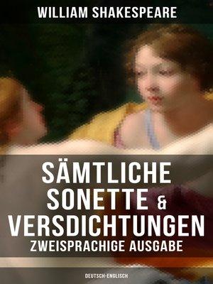 cover image of Sämtliche Sonette & Versdichtungen  (Zweisprachige Ausgabe
