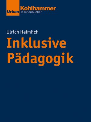 cover image of Inklusive Pädagogik