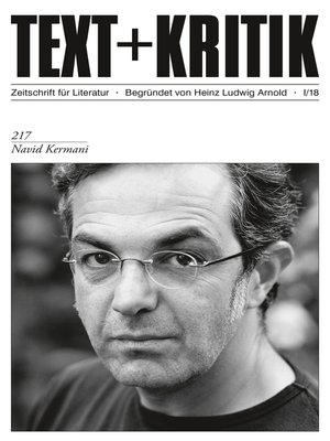 cover image of TEXT + KRITIK 217--Navid Kermani