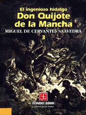 cover image of El ingenioso hidalgo don Quijote de la Mancha, 3
