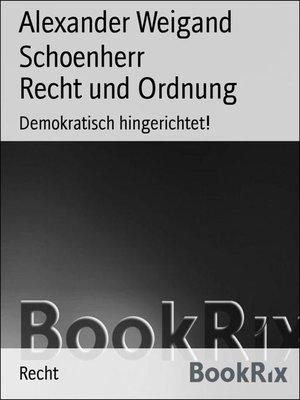 cover image of Recht und Ordnung