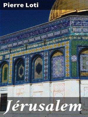 cover image of Jérusalem