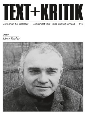 cover image of TEXT+KRITIK 209