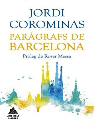 cover image of Paràgrafs de Barcelona