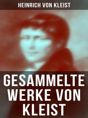cover image of Gesammelte Werke von Kleist