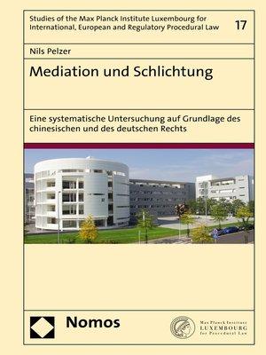 cover image of Mediation und Schlichtung