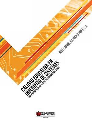 cover image of Calidad educativa en ingeniería de sistemas