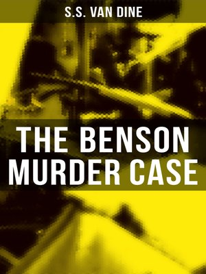 cover image of The Benson Murder Case