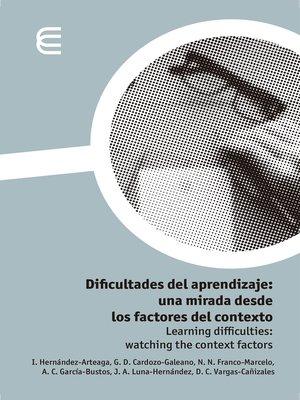 cover image of Dificultades del aprendizaje
