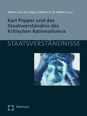 cover image of Karl Popper und das Staatsverständnis des Kritischen Rationalismus