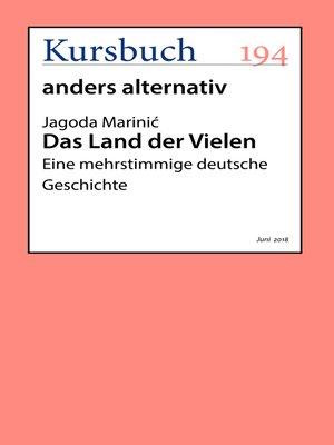 cover image of Das Land der Vielen