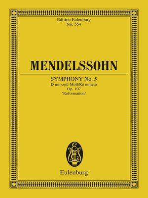 cover image of Symphony No. 5 D minor