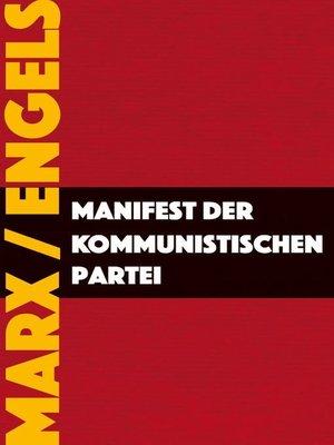 cover image of Manifest der Kommunistischen Partei