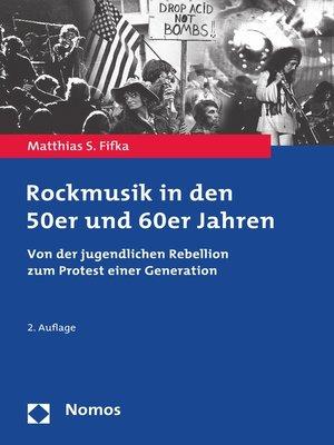 cover image of Rockmusik in den 50er und 60er Jahren