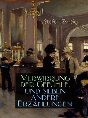 cover image of Verwirrung der Gefühle, und sieben andere Erzählungen