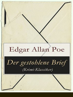 cover image of Der gestohlene Brief (Krimi-Klassiker)