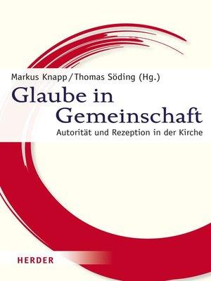cover image of Glaube in Gemeinschaft