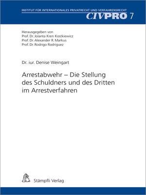 cover image of Arrestabwehr