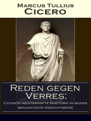 cover image of Reden gegen Verres
