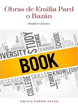 cover image of Obras de Emilia Pardo Bazán