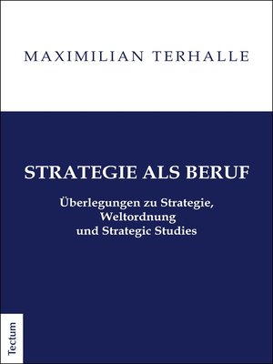 cover image of Strategie als Beruf