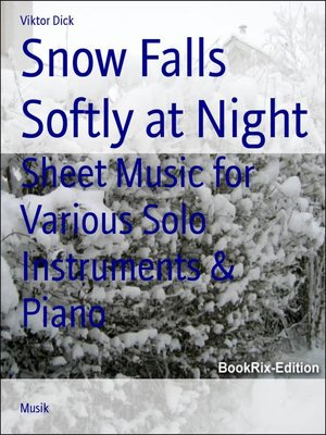 cover image of Snow Falls Softly at Night