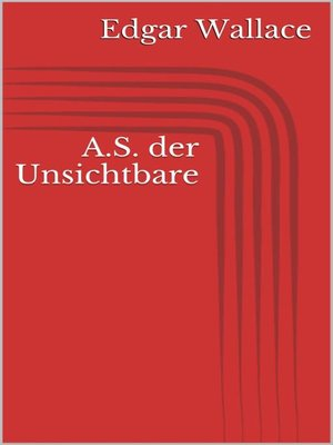 cover image of A.S. der Unsichtbare
