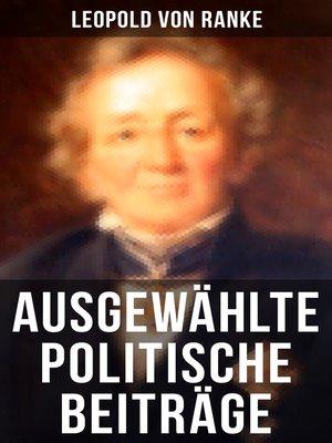cover image of Ausgewählte politische Beiträge
