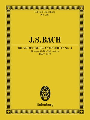 cover image of Brandenburg Concerto No. 4 G major