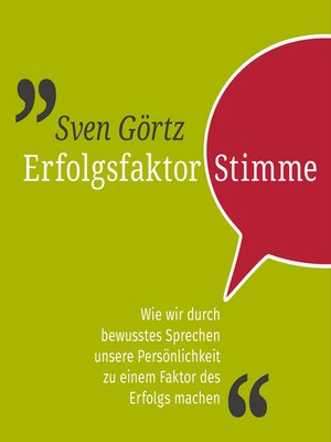 cover image of Erfolgsfaktor Stimme