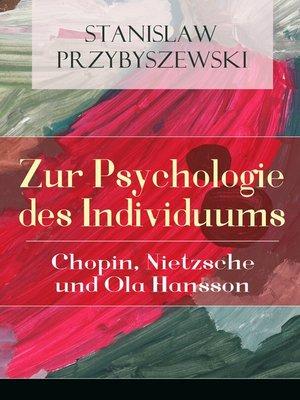 cover image of Zur Psychologie des Individuums