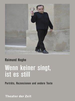 cover image of Wenn keiner singt, ist es still
