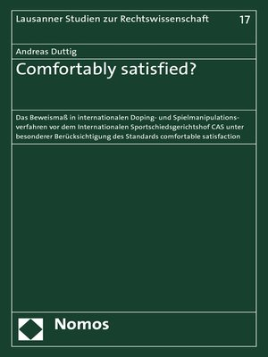 cover image of Comfortably satisfied?