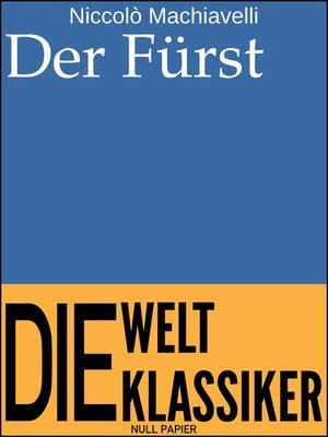 cover image of Der Fürst