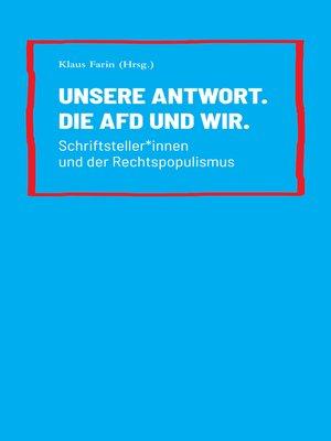 cover image of Unsere Antwort. Die AfD und Wir.
