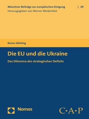 cover image of Die EU und die Ukraine