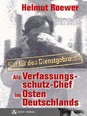 cover image of Nur für den Dienstgebrauch