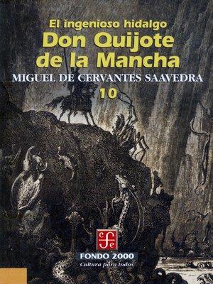 cover image of El ingenioso hidalgo don Quijote de la Mancha, 10