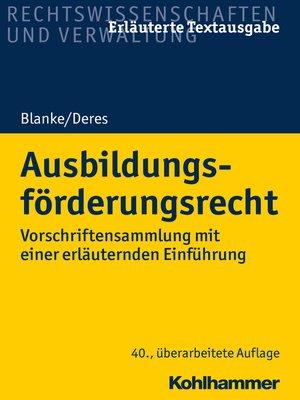 cover image of Ausbildungsförderungsrecht