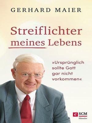 cover image of Streiflichter meines Lebens