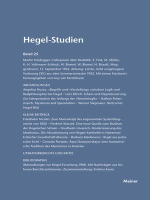 cover image of Hegel-Studien / Hegel-Studien Band 25