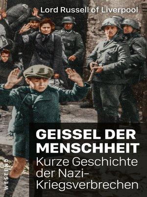 cover image of Geißel der Menschheit