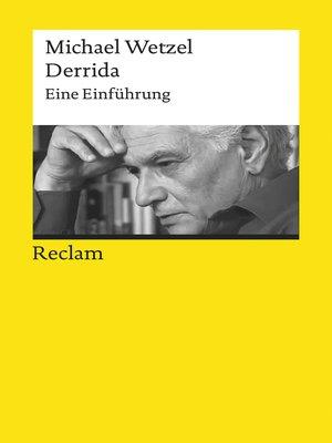 cover image of Derrida. Eine Einführung