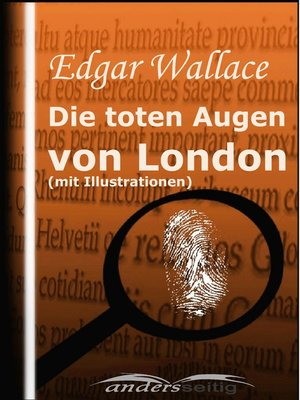 cover image of Die toten Augen von London (mit Illustrationen)