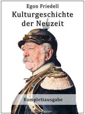 cover image of Kulturgeschichte der Neuzeit