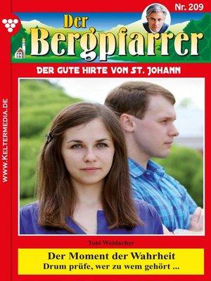 cover image of Der Bergpfarrer 209 – Heimatroman