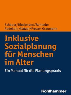 cover image of Inklusive Sozialplanung für Menschen im Alter