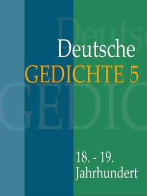 cover image of Deutsche Gedichte 5