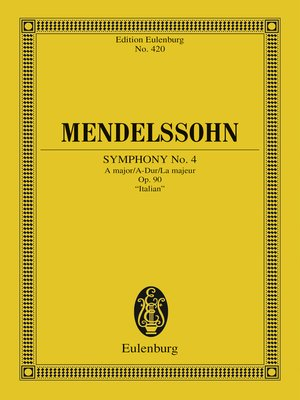 cover image of Symphony No. 4 a major